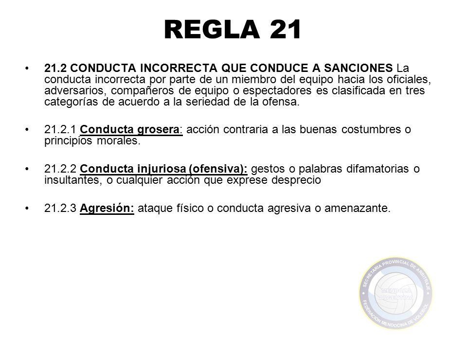 REGLA 21