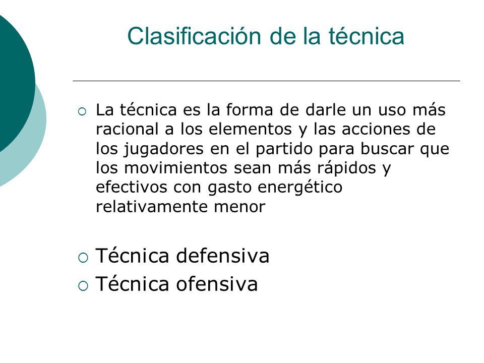 Clasificación de la técnica