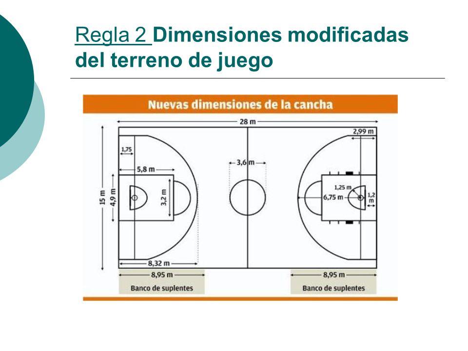Regla 2 Dimensiones modificadas del terreno de juego
