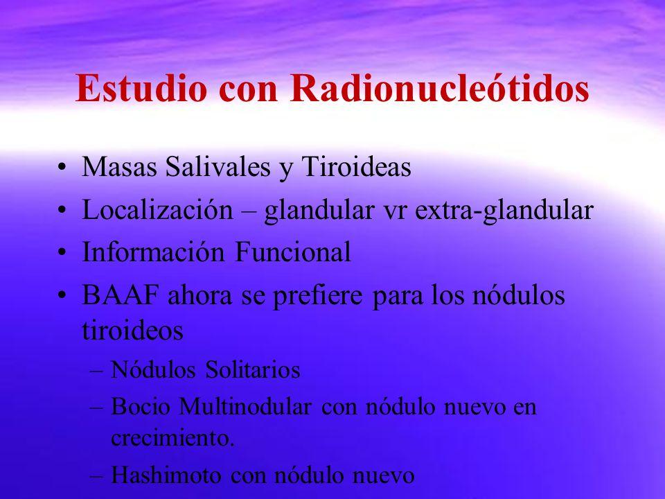 Estudio con Radionucleótidos