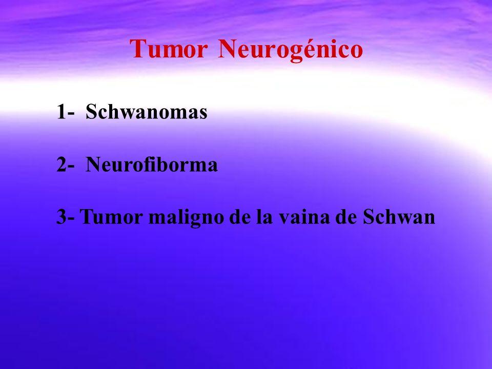 Tumor Neurogénico 1- Schwanomas 2- Neurofiborma