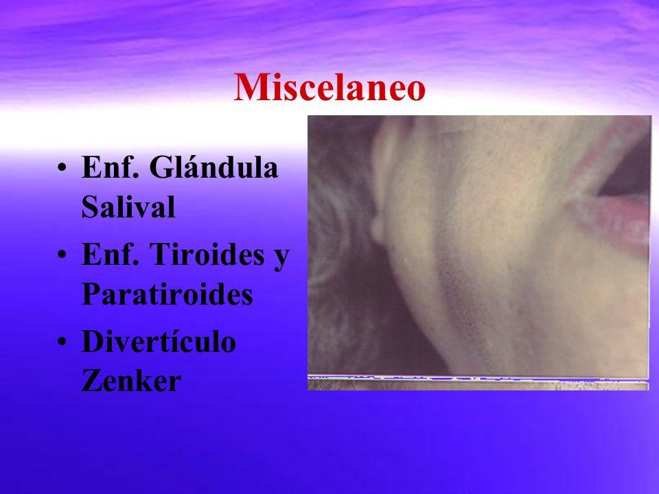 Miscelaneo Enf. Glándula Salival Enf. Tiroides y Paratiroides