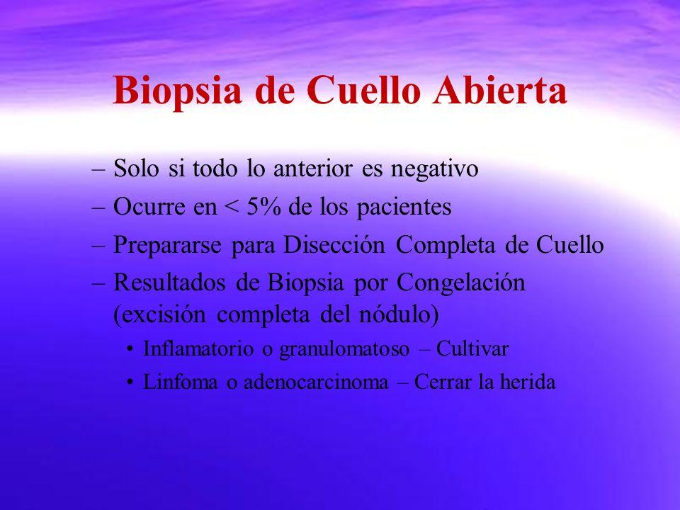Biopsia de Cuello Abierta