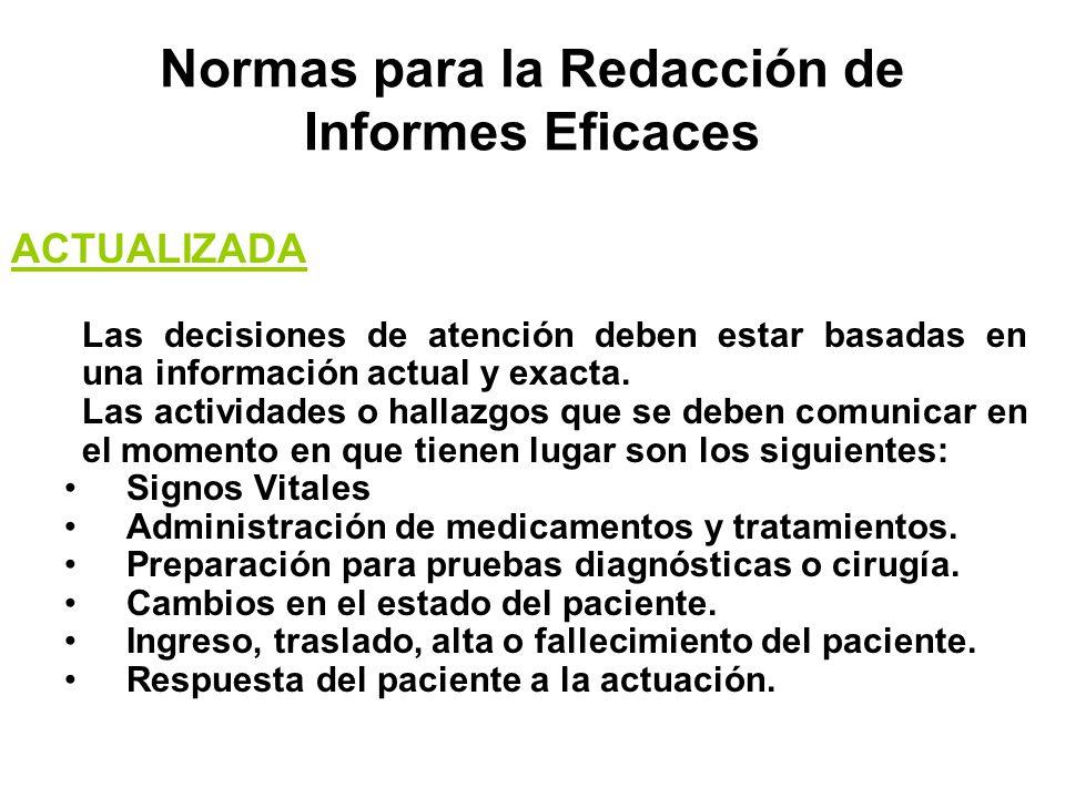 Normas para la Redacción de Informes Eficaces