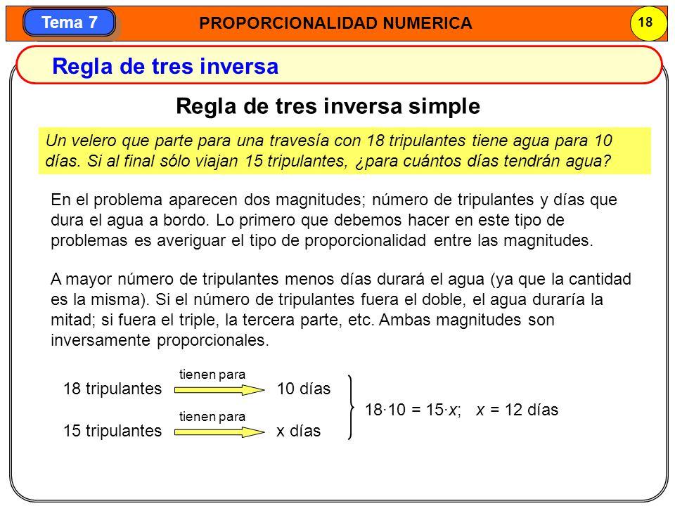 Regla de tres inversa simple