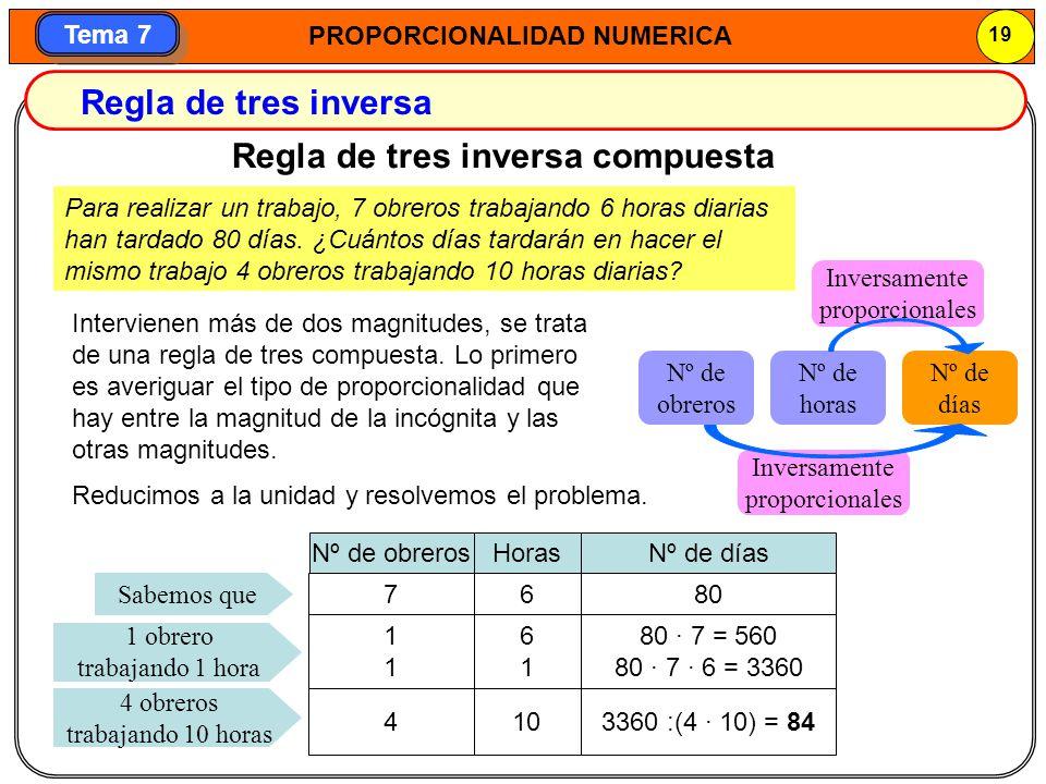 Regla de tres inversa compuesta