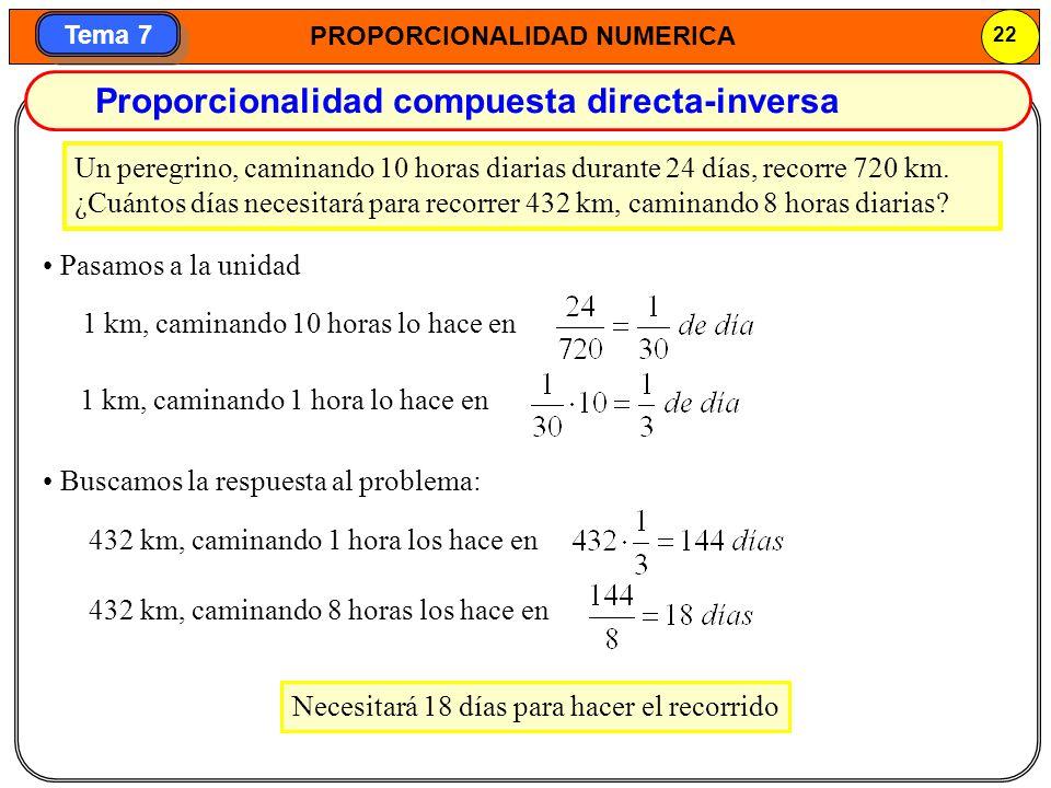 Proporcionalidad compuesta directa-inversa