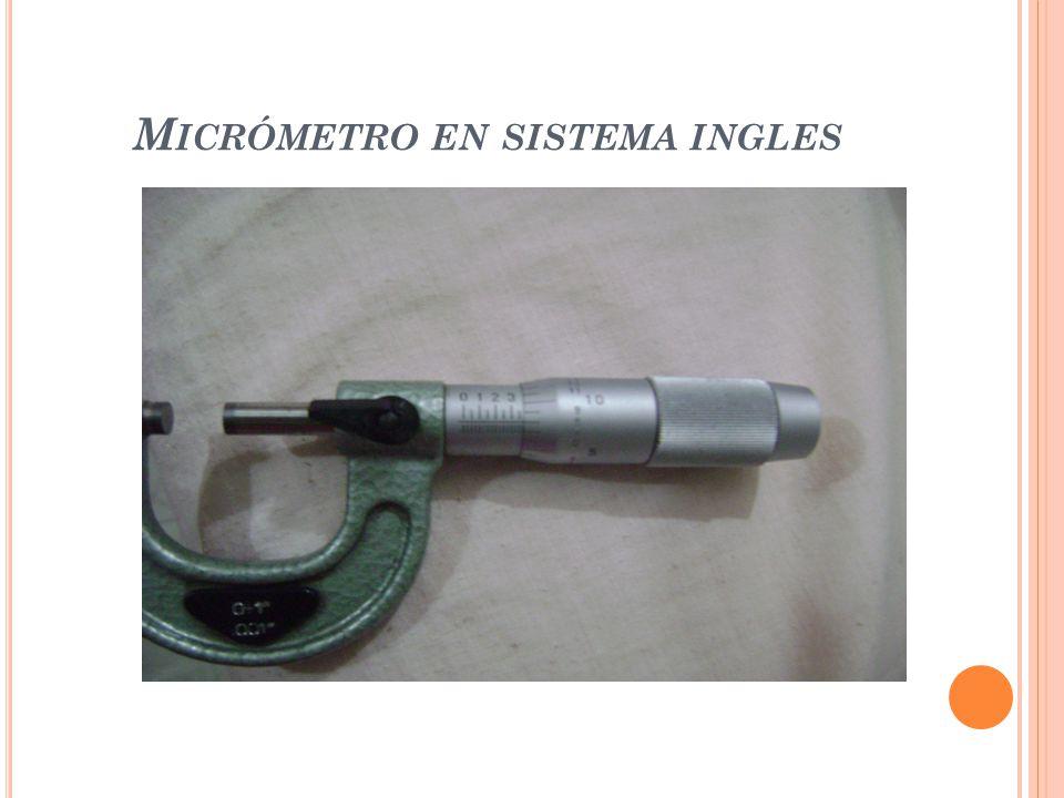 Micrómetro en sistema ingles