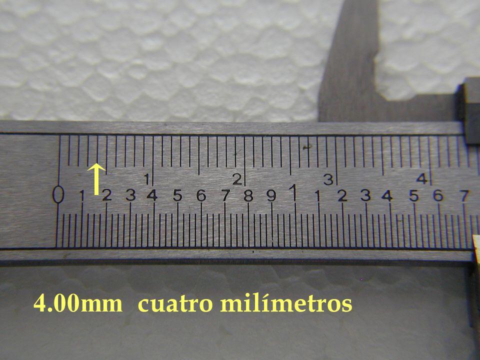 4.00mm cuatro milímetros