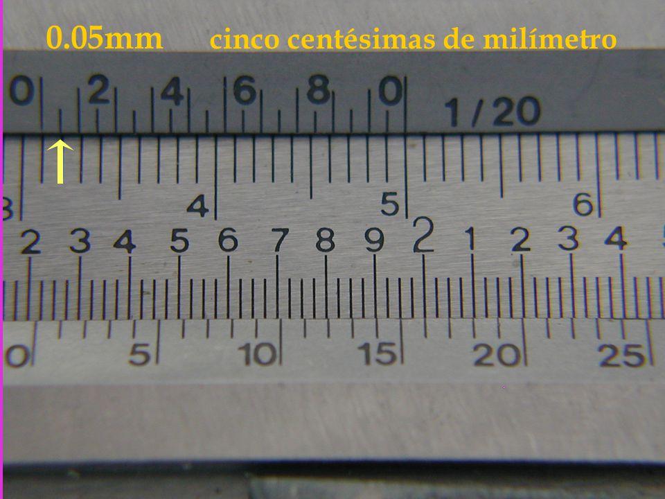 0.05mm cinco centésimas de milímetro