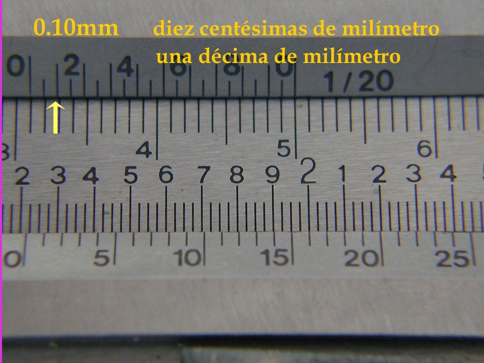 0.10mm diez centésimas de milímetro una décima de milímetro