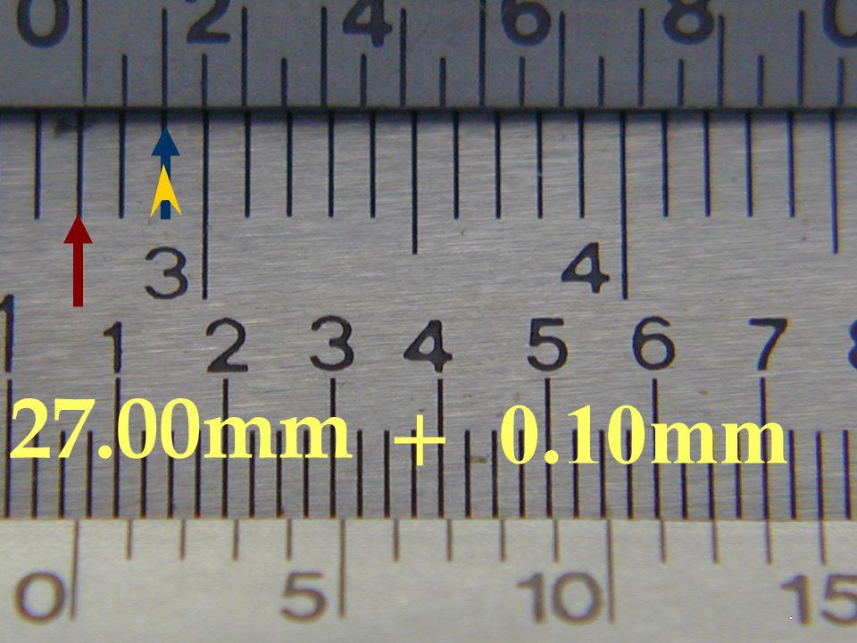 27.00mm + 0.10mm