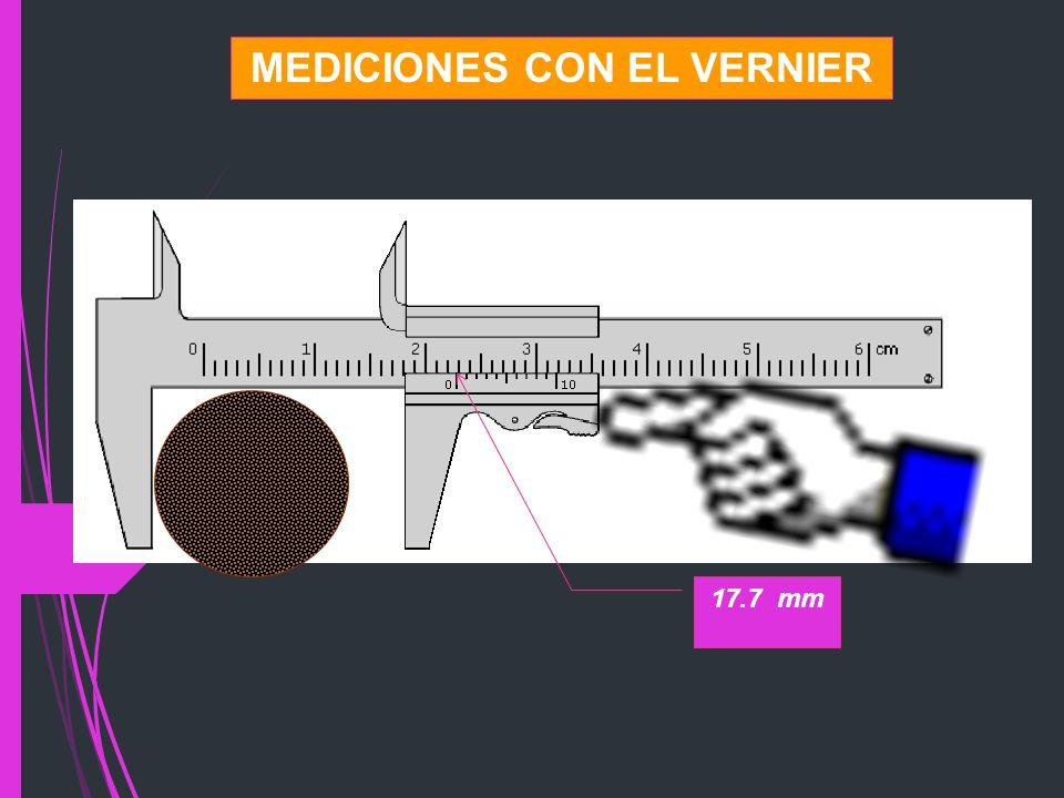 MEDICIONES CON EL VERNIER