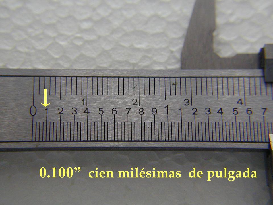 0.100 cien milésimas de pulgada