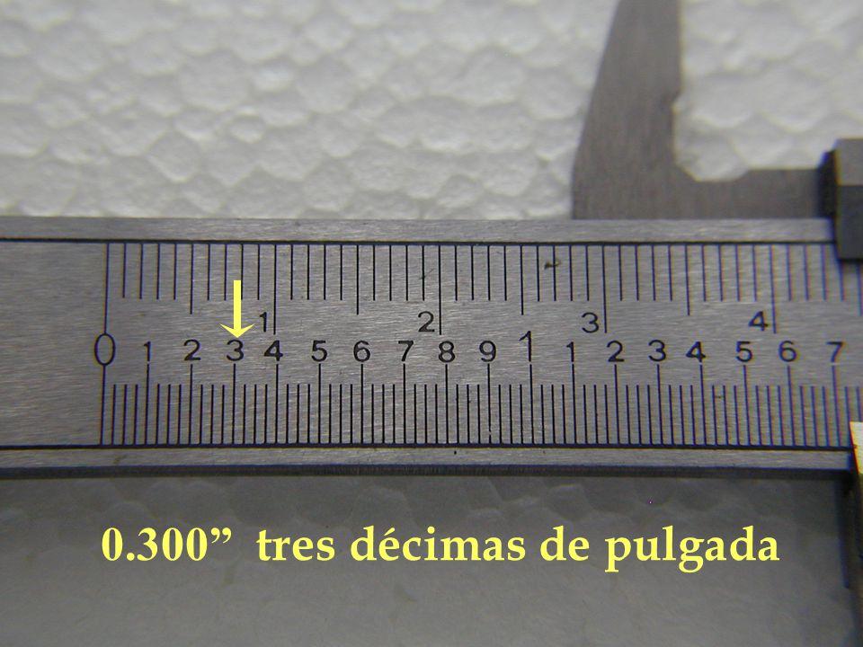 0.300 tres décimas de pulgada