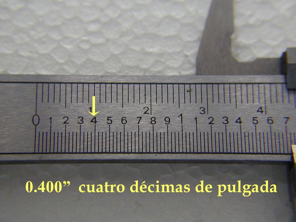 0.400 cuatro décimas de pulgada