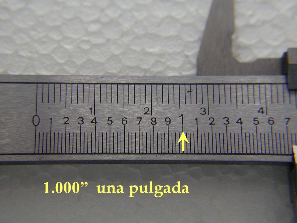1.000 una pulgada