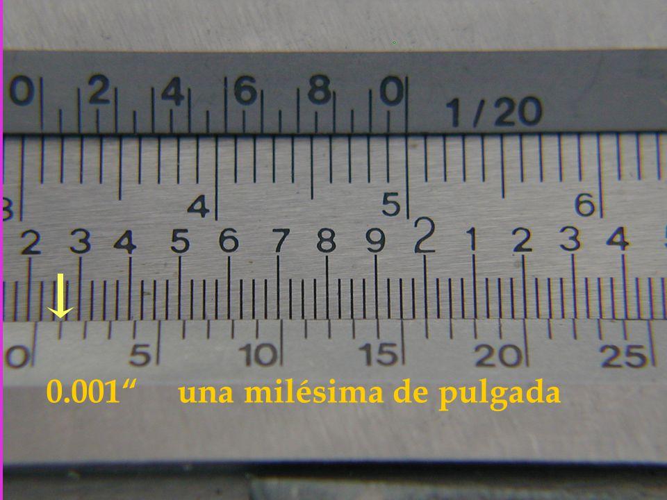 0.001 una milésima de pulgada