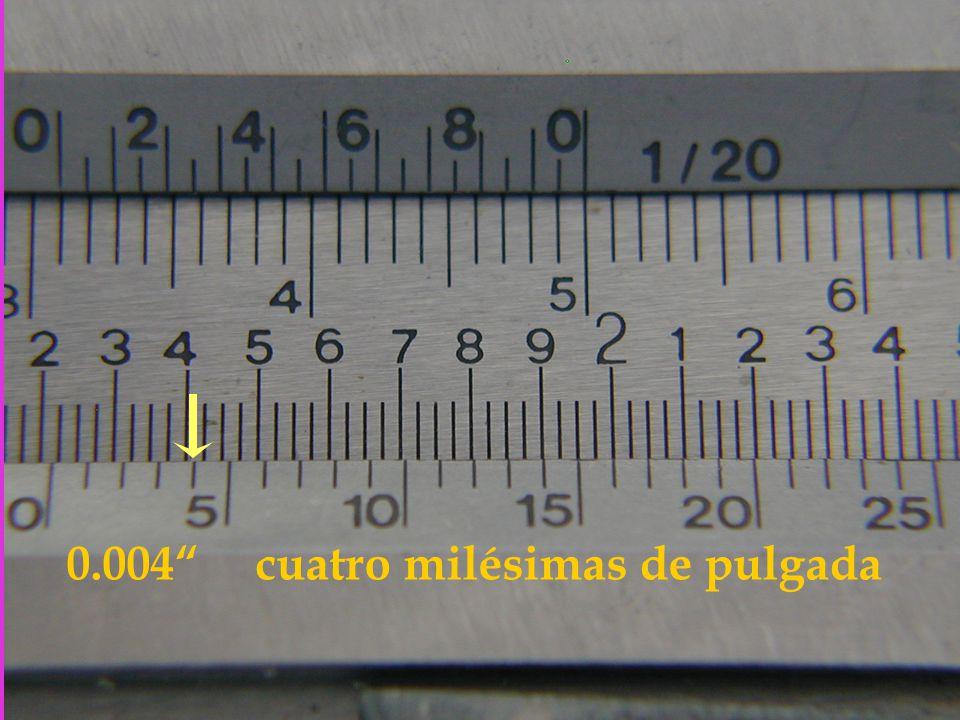 0.004 cuatro milésimas de pulgada