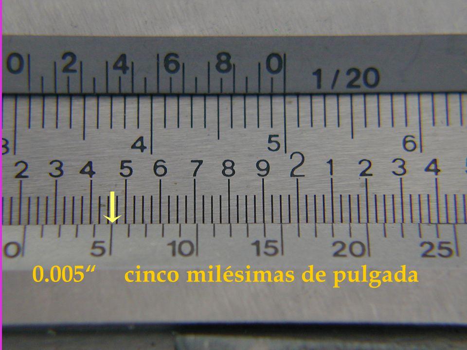 0.005 cinco milésimas de pulgada