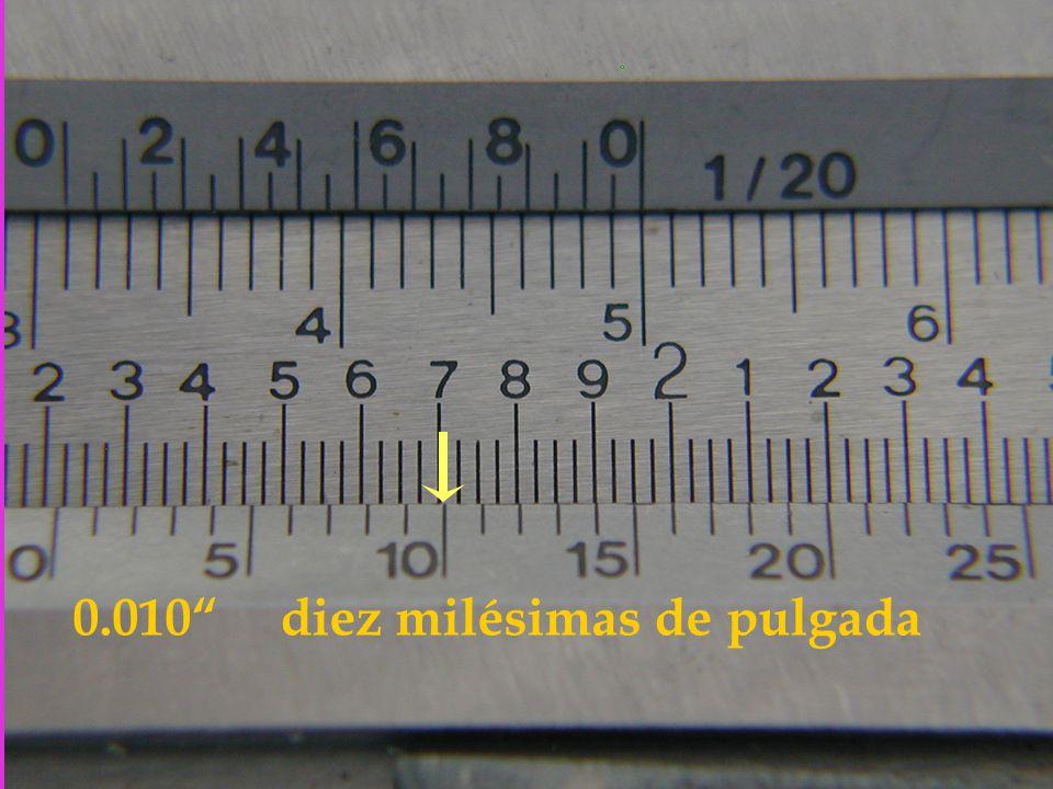 0.010 diez milésimas de pulgada