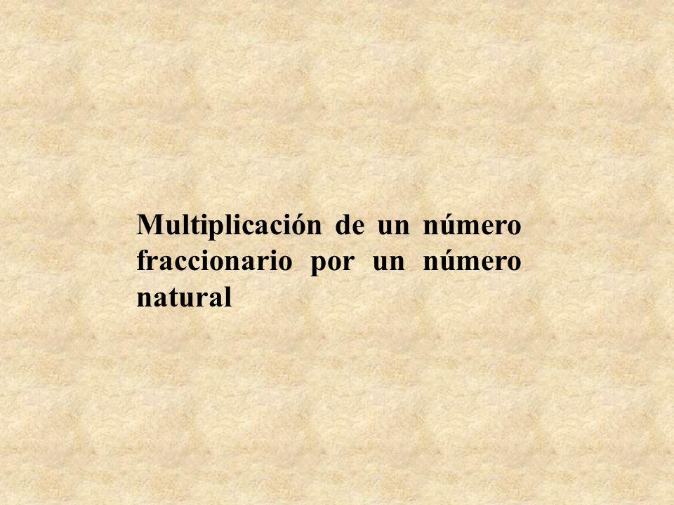 Multiplicación de un número fraccionario por un número natural