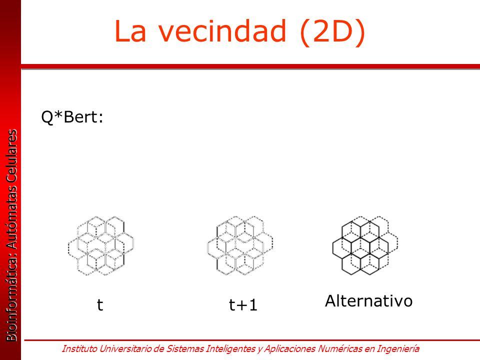 La vecindad (2D) Q*Bert: Alternativo t t+1