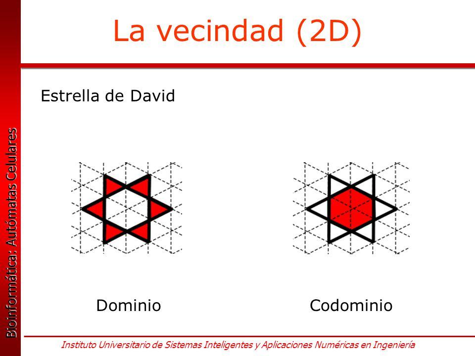 La vecindad (2D) Estrella de David Dominio Codominio