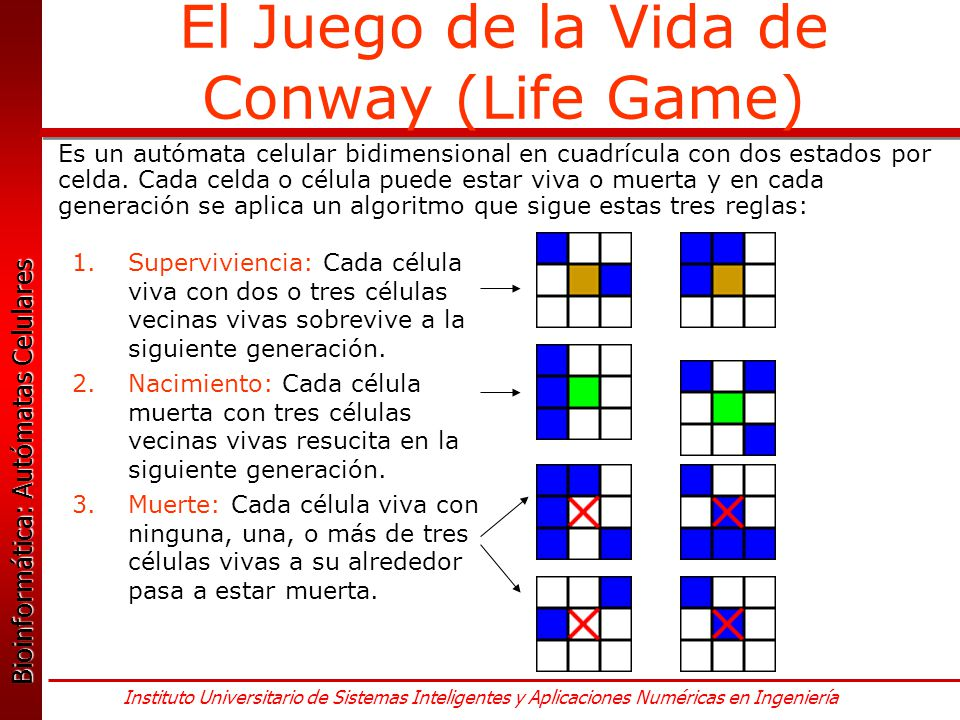 El Juego de la Vida de Conway (Life Game)