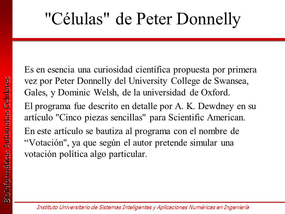 Células de Peter Donnelly
