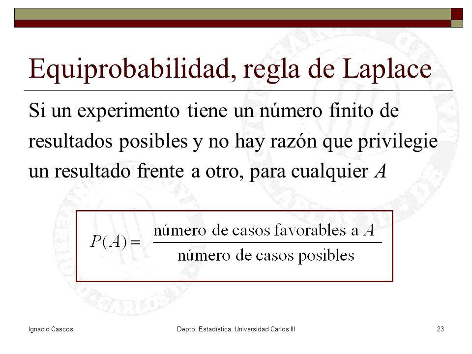 Equiprobabilidad, regla de Laplace