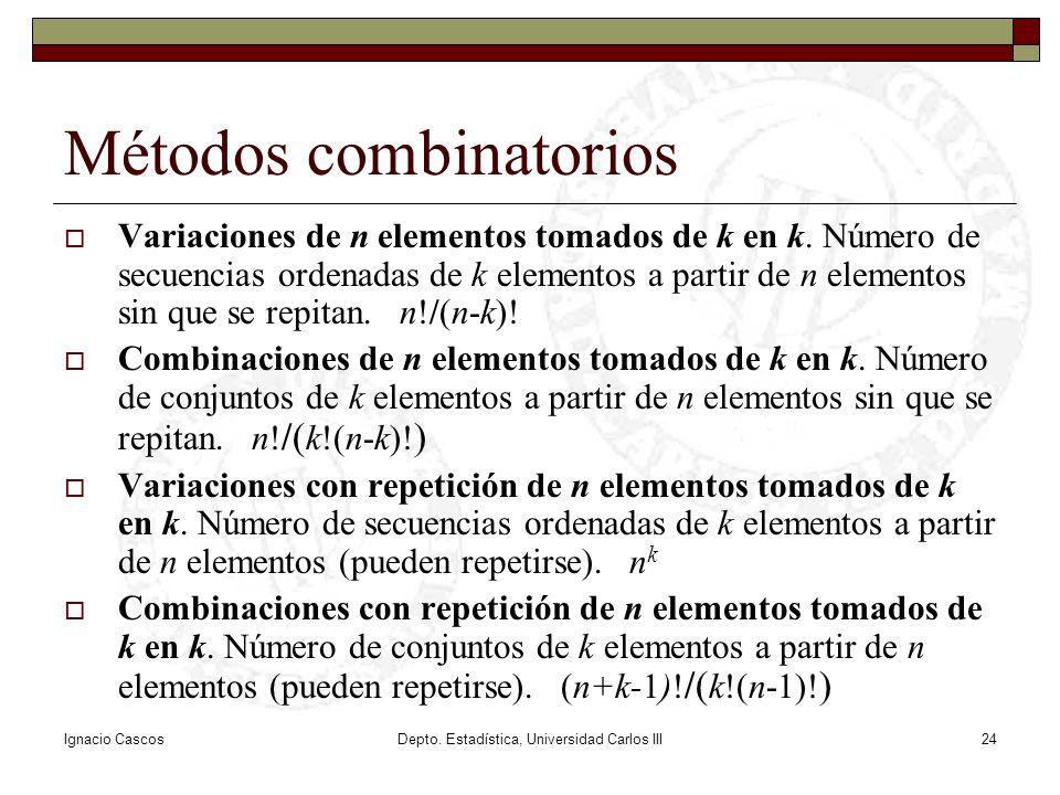 Métodos combinatorios