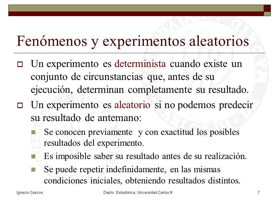 Fenómenos y experimentos aleatorios