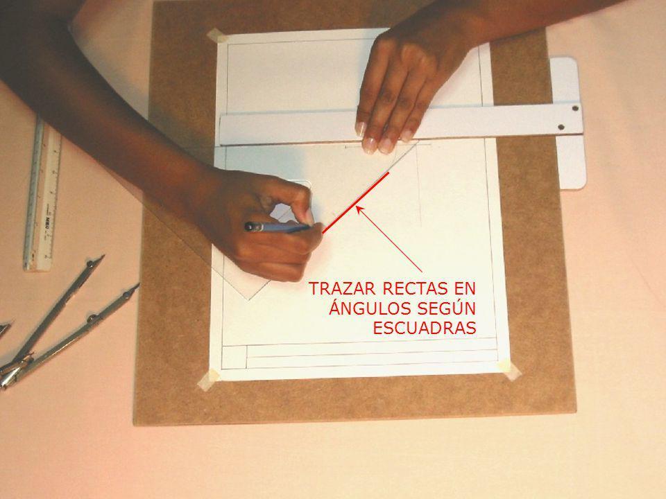 TRAZAR RECTAS EN ÁNGULOS SEGÚN ESCUADRAS