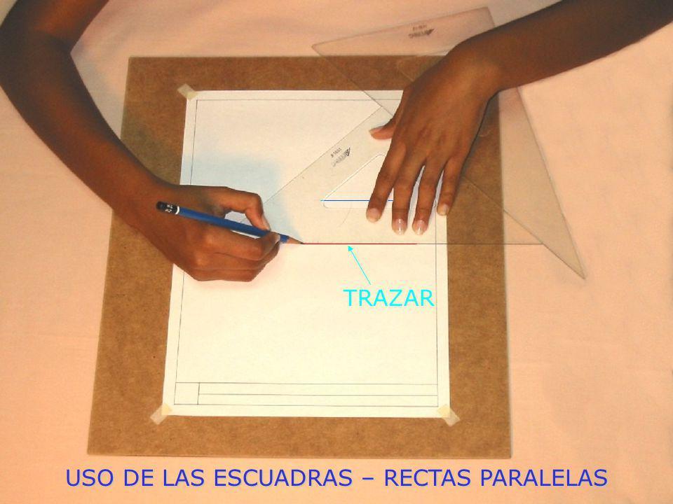 USO DE LAS ESCUADRAS – RECTAS PARALELAS