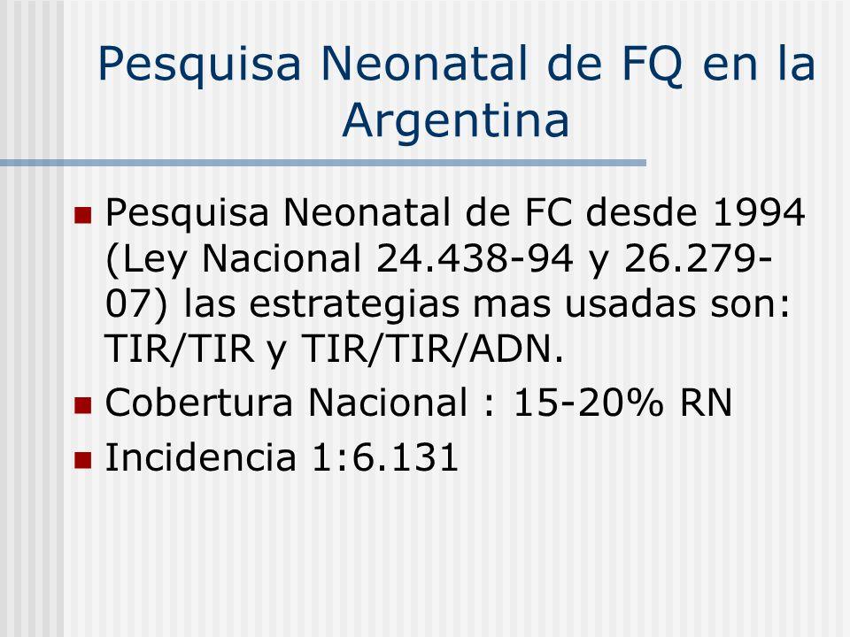 Pesquisa Neonatal de FQ en la Argentina