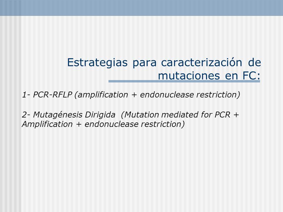 Estrategias para caracterización de mutaciones en FC: