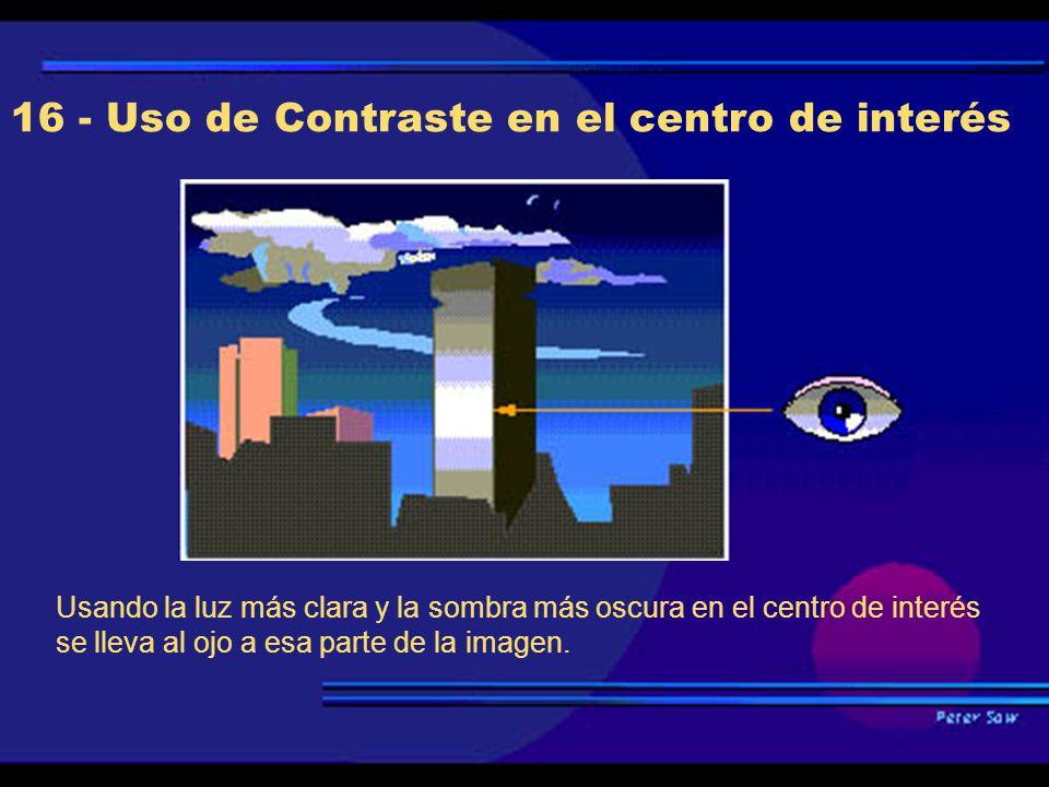 16 - Uso de Contraste en el centro de interés