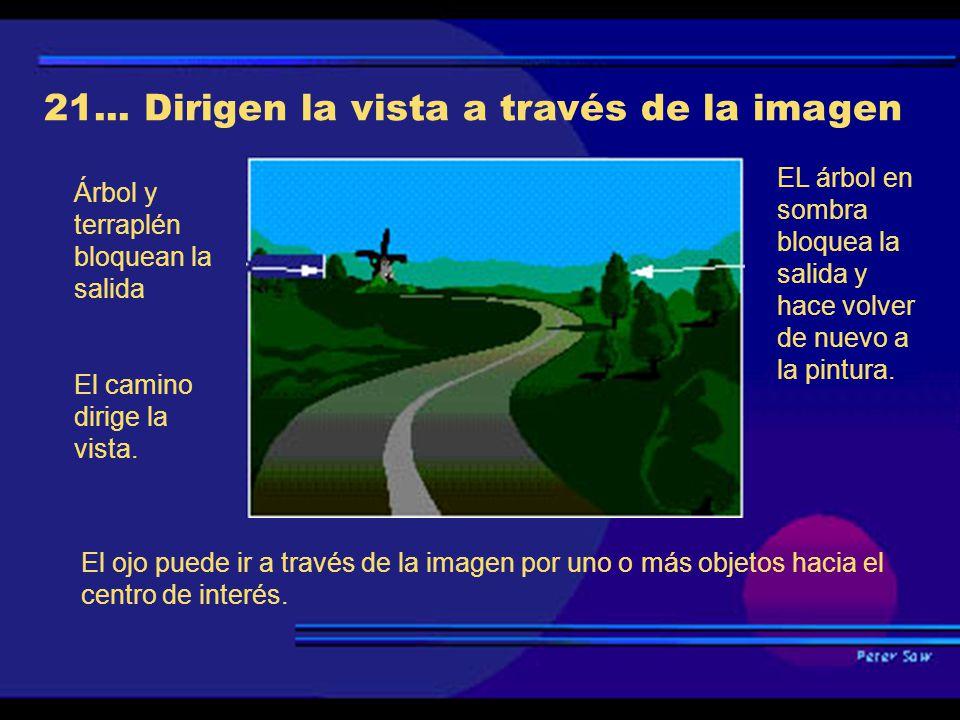 21... Dirigen la vista a través de la imagen