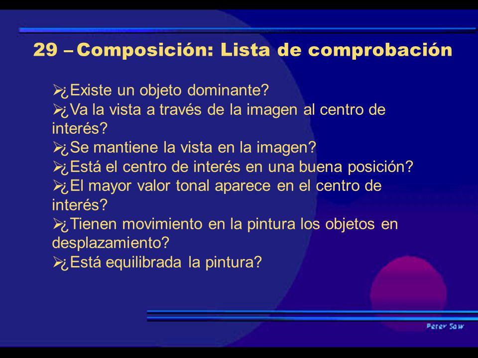 29 – Composición: Lista de comprobación