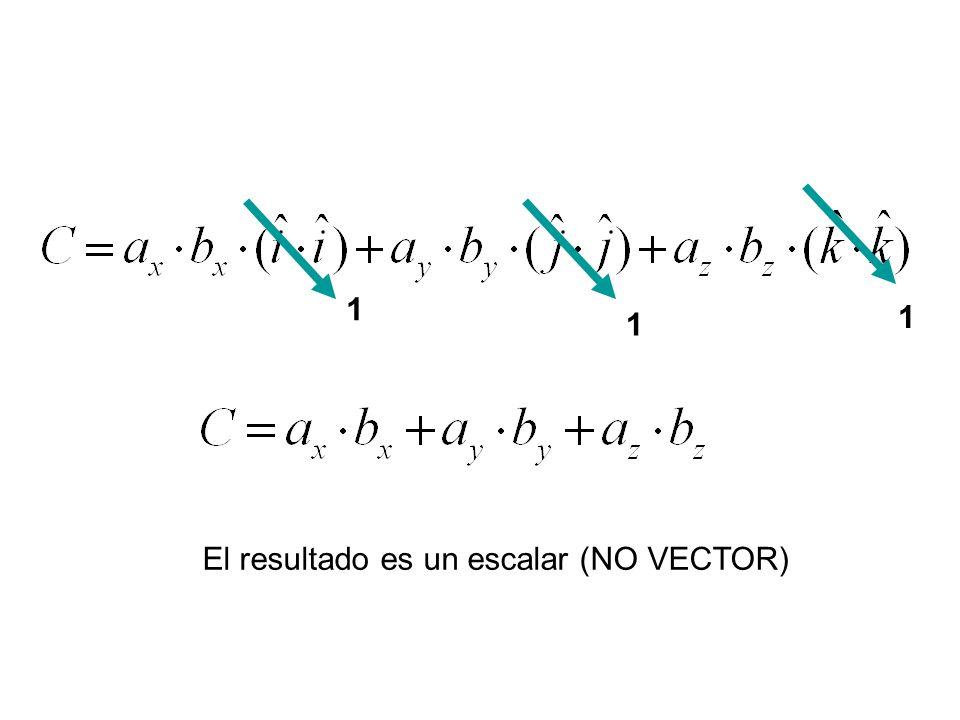 1 1 1 El resultado es un escalar (NO VECTOR)