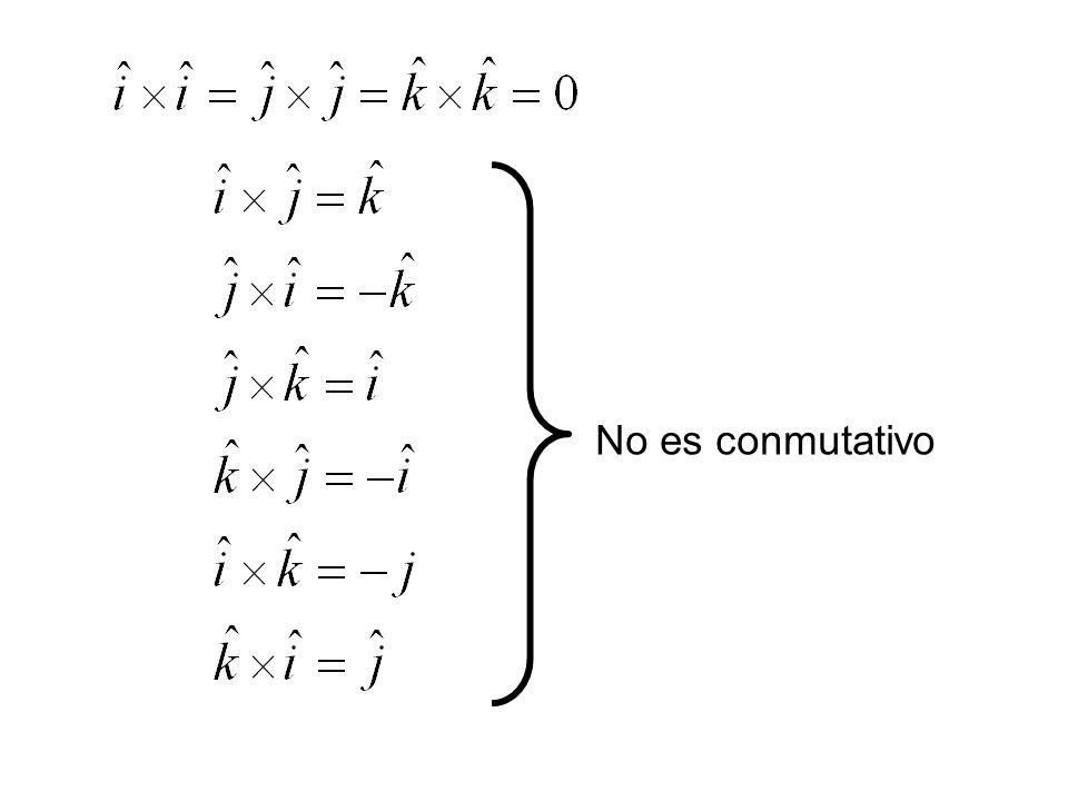 No es conmutativo