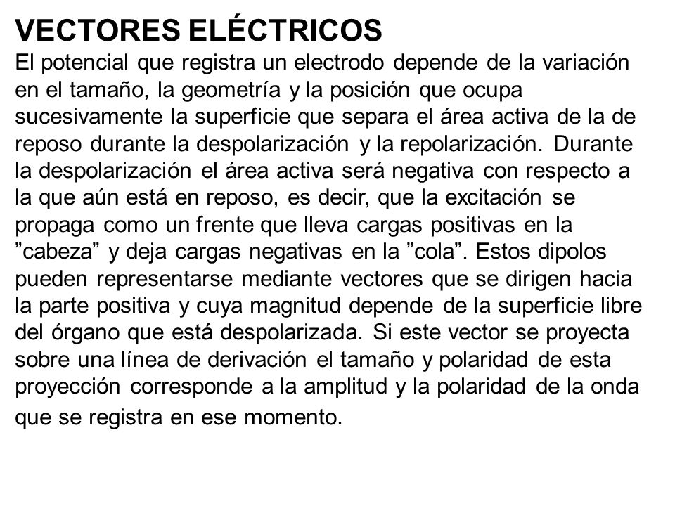 VECTORES ELÉCTRICOS