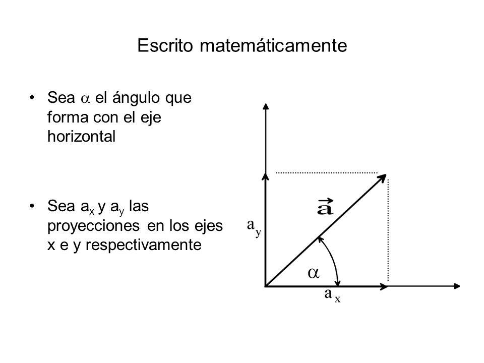 Escrito matemáticamente