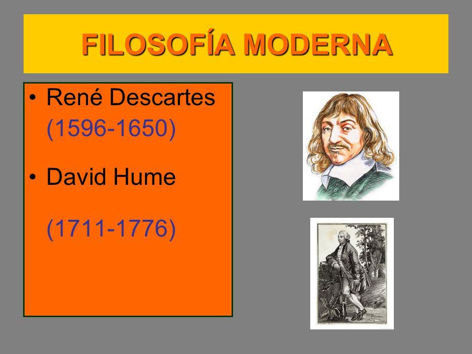 FILOSOFÍA MODERNA René Descartes (1596-1650) David Hume (1711-1776)