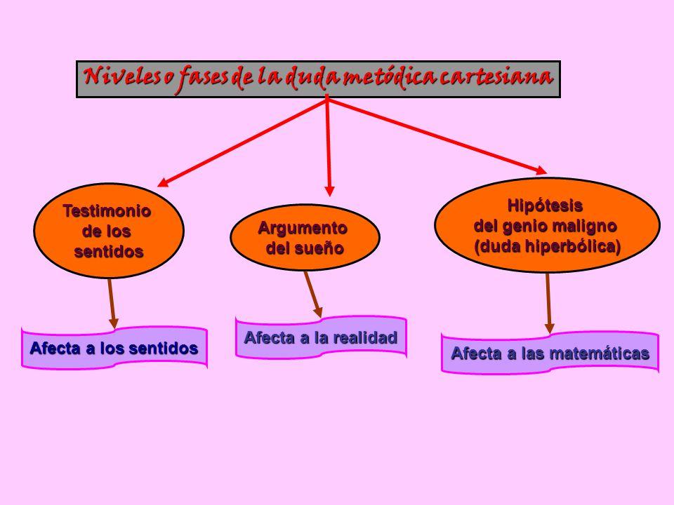 Niveles o fases de la duda metódica cartesiana