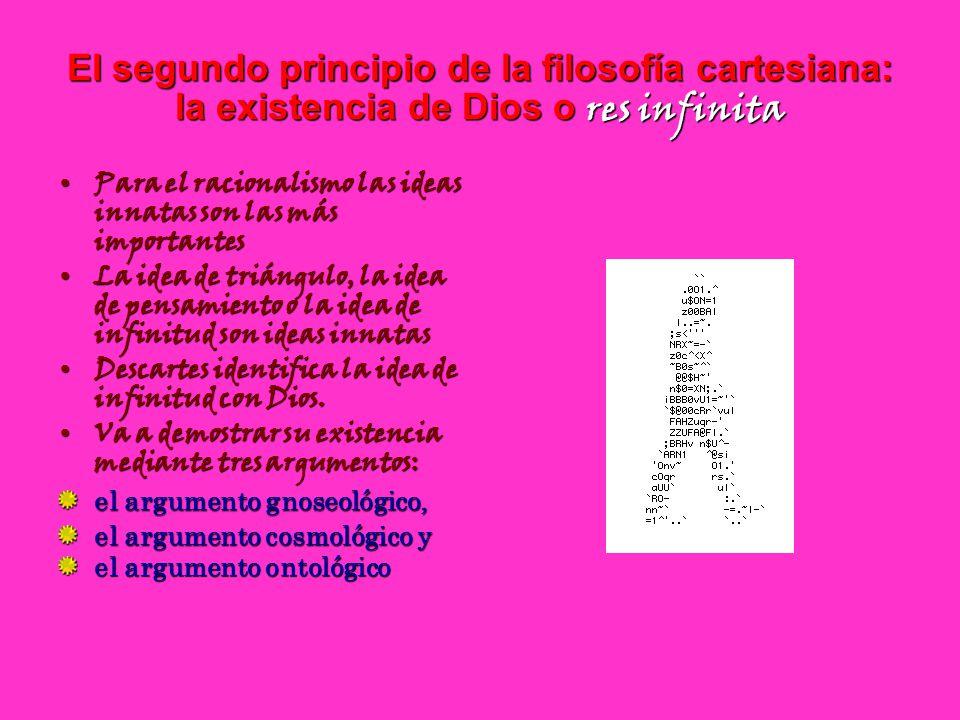 El segundo principio de la filosofía cartesiana: la existencia de Dios o res infinita