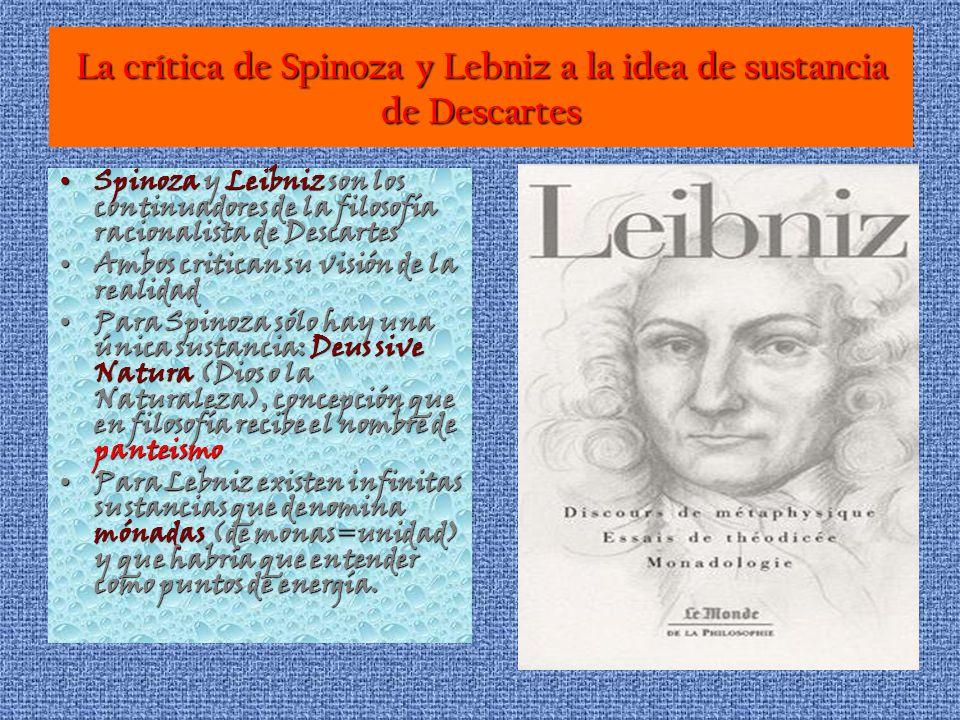 La crítica de Spinoza y Lebniz a la idea de sustancia de Descartes