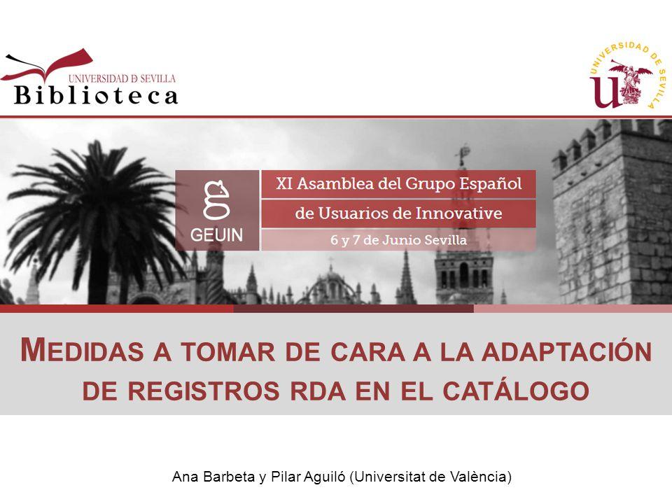 Ana Barbeta y Pilar Aguiló (Universitat de València)