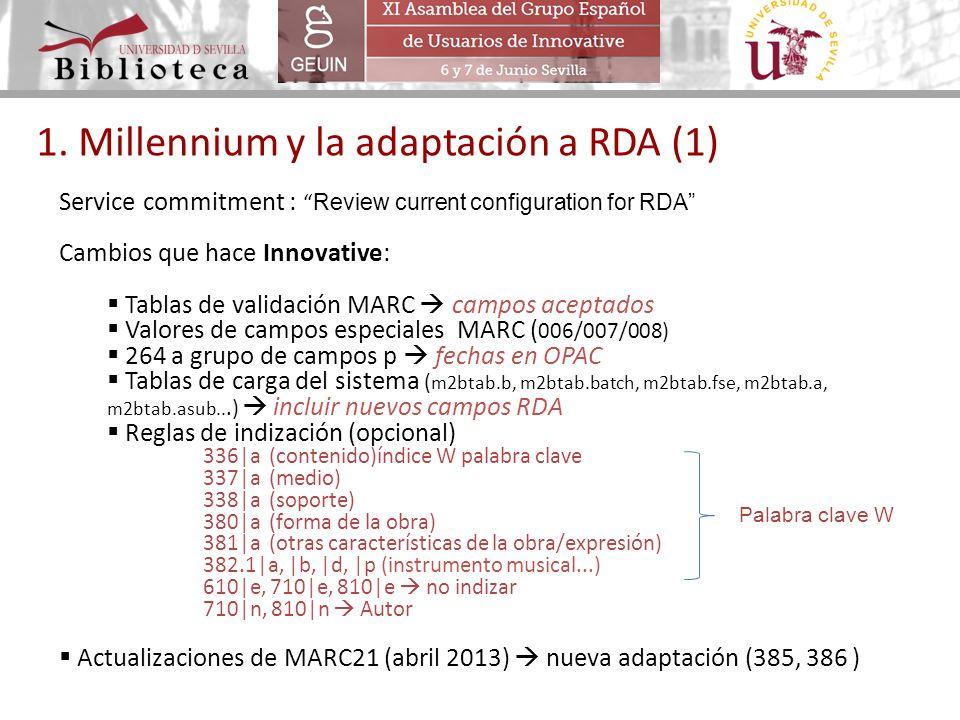 1. Millennium y la adaptación a RDA (1)